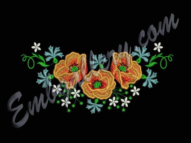 Дизайны машинной вышивки горловина