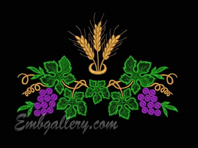 Quot for wedding machine embroidery design