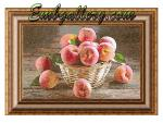"""Basket with peaches""_for hoops 200x280mm"