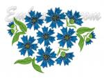 """Cornflowers applique"""