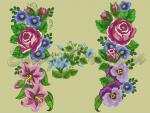 """Summer Garden"" for 180x300mm hoops"