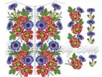 """Poppies, Cornflowers""_Set for a National Shirt"