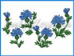 """""""Summer. Cornflowers""""_ Machine Embroidery Designs Set"""