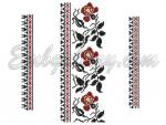 """Red roses""_Cross Stitch Set"