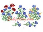 """Miracle-cornflowers with poppies and ears"""