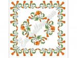 """Nasturtiums""_in Cross Stitch"