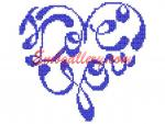 """Love you""_in Cross Stitch for free"