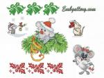 """Year of the Mouse""_ Cross Stitch Machine Embroidery Designs Set"