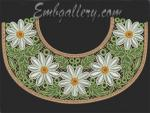 "Lace yoke ""Daisies""_130x180mm"