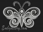 """Silver butterfly""_3 (Gift with purchase)"