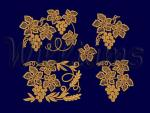 """Grapes""_ Machine Embroidery Designs Set"