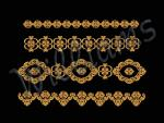 """Machine Embroidery Designs Set """"For Borders""""."""