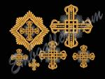 """A set of crosses for church vestments"""