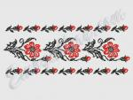 """Scarlet Flower""_Set for borders"