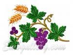"""Grapes and spikelets""_ Border (for hoop 130х180mm)"