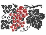 """Bunch of Grapes in Cross Stitch"""
