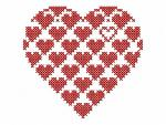 """Heart in Cross Stitch""_for free"