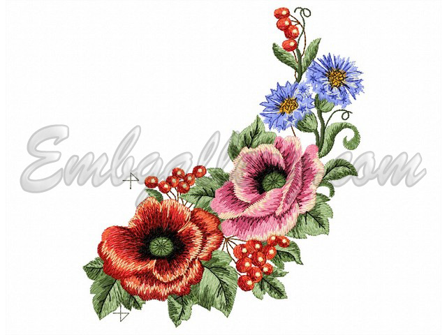 machine embroidery fsl flowers