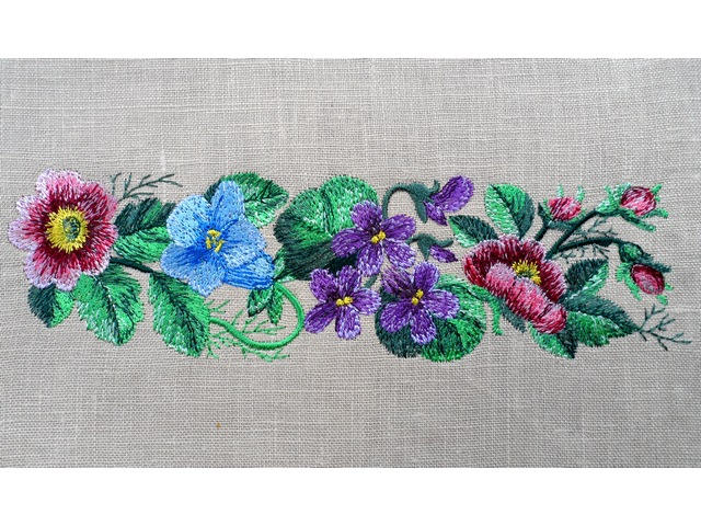 Fragrant Summer Mini Border Machine Embroidery Design