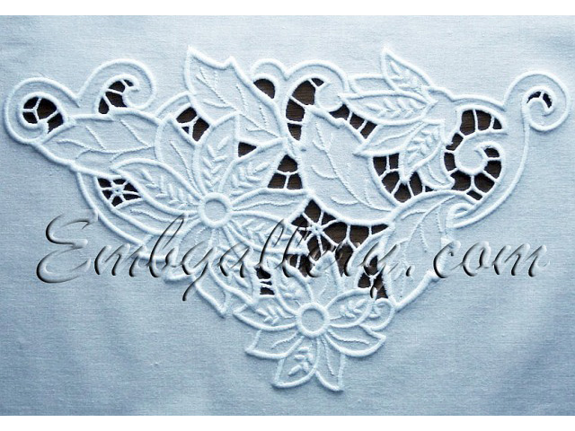 Quot cutwork lace corner machine embroidery design