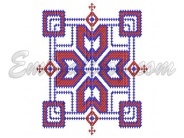 QuotCross Stitch Napkinquot  Machine Embroidery Design