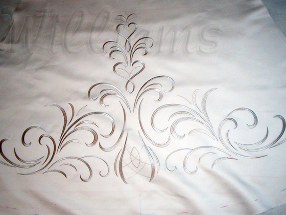 Embroidery On A Wedding Dress